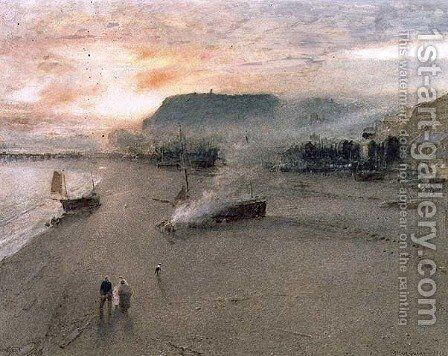 Hastings by Albert Goodwin - Reproduction Oil Painting