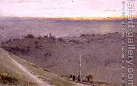 Glastonbury by Albert Goodwin - Reproduction Oil Painting