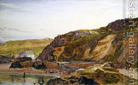 Boulay Bay Jersey by Albert Goodwin - Reproduction Oil Painting