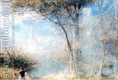 Merano Northern Italy by Albert Goodwin - Reproduction Oil Painting