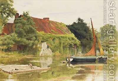 The Friars Aylesford Maidstone by Albert Goodwin - Reproduction Oil Painting