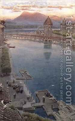 Lucerne by Albert Goodwin - Reproduction Oil Painting