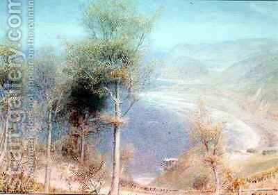 North Devon Woody Bay by Albert Goodwin - Reproduction Oil Painting