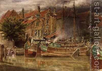 View on the Canal Dort by Albert Goodwin - Reproduction Oil Painting