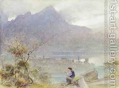 Stanstadt and Pilatus by Albert Goodwin - Reproduction Oil Painting