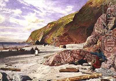 Lynmouth Devon the Story of the Shipwreck by Albert Goodwin - Reproduction Oil Painting