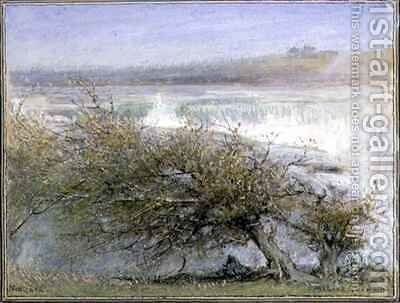 Niagara in Spring by Albert Goodwin - Reproduction Oil Painting