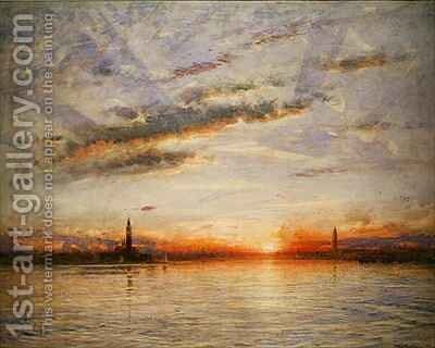 Sunset Venice by Albert Goodwin - Reproduction Oil Painting