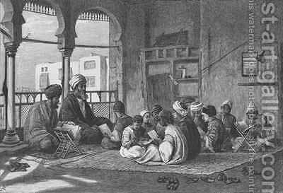 The School of Sultan Hassan by (after) Goodall, Frederick - Reproduction Oil Painting