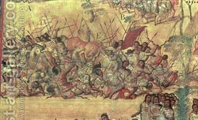 Battle in the City of Cholula Between the Spaniards and the Indians in October 1519 2 by Miguel Gonzalez - Reproduction Oil Painting
