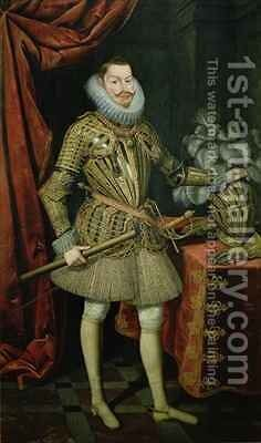 Portrait of Philip III of Spain 1578-1621 by Bartolome Gonzalez - Reproduction Oil Painting