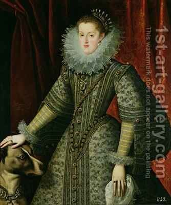 Queen Margarita of Austria by Bartolome Gonzalez - Reproduction Oil Painting