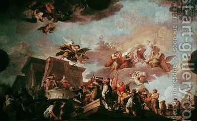 Christopher Columbus 1450-1506 Offering the New World to the Catholic Kings by Antonio the Elder Gonzalez Velazquez - Reproduction Oil Painting