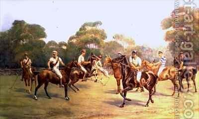 The Polo Match by C.M. Gonne - Reproduction Oil Painting