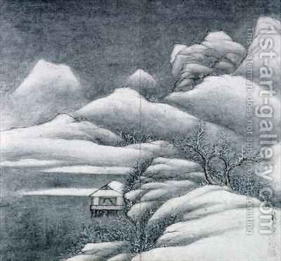 Snow covered landscape from an album of The Four Seasons by Xian Gong - Reproduction Oil Painting