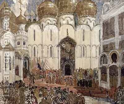 Stage design for Boris Godunov by Aleksandr Jakovlevic Golovin - Reproduction Oil Painting