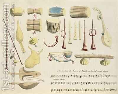 Indian Musical Instruments by (after) Gold, Charles Emilius - Reproduction Oil Painting