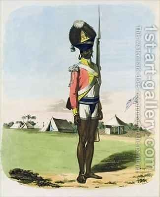 A Naigue of the Bombay Battalion by (after) Gold, Charles Emilius - Reproduction Oil Painting