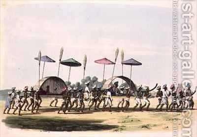 Marriage Procession through the Town of Nagappattinam by (after) Gold, Charles Emilius - Reproduction Oil Painting