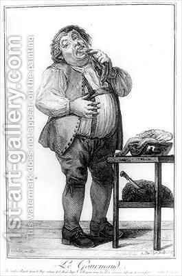 The Glutton from Exercices dImagination de Differens Characteres et Formes Humaines by (after) Goez, Joseph Franz von - Reproduction Oil Painting