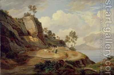 Landscape in Italy by Carl Wilhelm Goetzloff - Reproduction Oil Painting