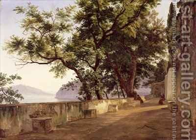 Garden of the Capuchin Friars near Sorrento by Carl Wilhelm Goetzloff - Reproduction Oil Painting