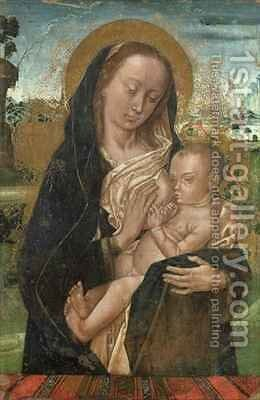 The Virgin Mary Quieting the Baby Jesus by (after) Goes, Hugo van der - Reproduction Oil Painting
