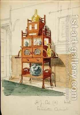 Exhibition Cabinet by Edward William Godwin - Reproduction Oil Painting