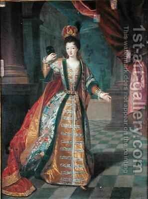 Portrait of a Woman in a Ball Gown by (attr. to) Gobert, Pierre - Reproduction Oil Painting