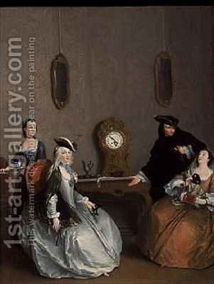 Group Preparing to go to a Masked Ball by Giuseppe Gobbis - Reproduction Oil Painting