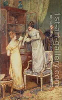 Prying Eyes by Henry Gillard Glindoni - Reproduction Oil Painting