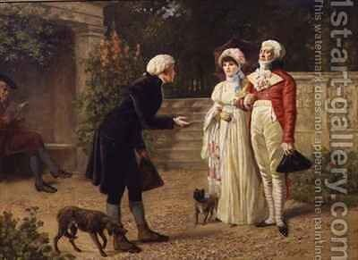 The Beggar by Henry Gillard Glindoni - Reproduction Oil Painting
