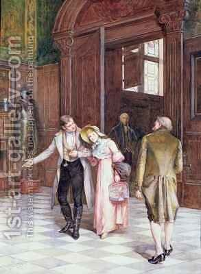 Crossing the Threshold the New Bride by Henry Gillard Glindoni - Reproduction Oil Painting