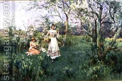 Spring Flowers by Alfred I Glendening - Reproduction Oil Painting