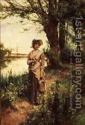 Where Are Your Going My Pretty Maid by Alfred I Glendening - Reproduction Oil Painting