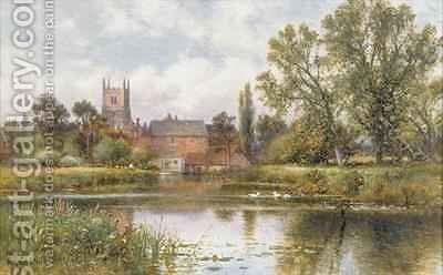 The Millpond by Alfred I Glendening - Reproduction Oil Painting
