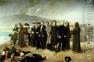Execution of Jose Maria de Torrijos y Uriarte 1791-1831 and his Companions in 1831 by Antonio Gisbert - Reproduction Oil Painting