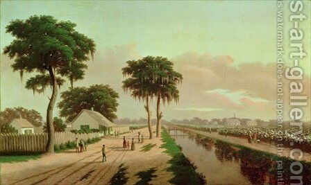 Cotton Plantation by Charles Giroux - Reproduction Oil Painting
