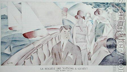 The League of Nations in Geneva by Hubert Giron - Reproduction Oil Painting