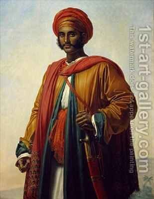 Portrait of an Indian by Anne-Louis Girodet de Roucy-Triosson - Reproduction Oil Painting