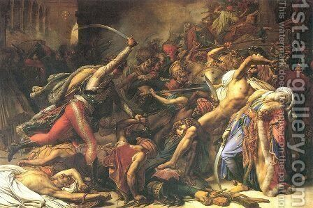 The Revolt at Cairo by Anne-Louis Girodet de Roucy-Triosson - Reproduction Oil Painting