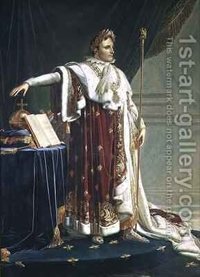 Portrait of Napoleon I in his Coronation Robes by Anne-Louis Girodet de Roucy-Triosson - Reproduction Oil Painting
