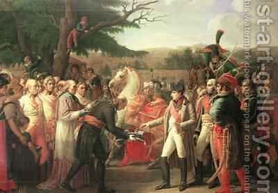 Napoleon Bonaparte 1769-1821 Receiving the Keys of Vienna at the Schloss Schonbrunn by Anne-Louis Girodet de Roucy-Triosson - Reproduction Oil Painting