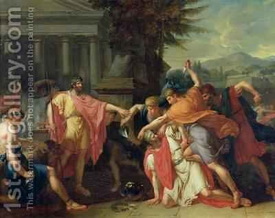 The Death of Tatius by Anne-Louis Girodet de Roucy-Triosson - Reproduction Oil Painting