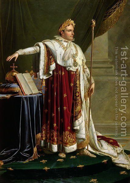 Portrait of Napoleon Bonaparte 1769-1821 by Anne-Louis Girodet de Roucy-Triosson - Reproduction Oil Painting