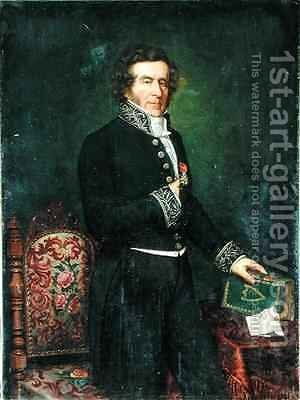 Pierre Calemard de La Fayette 1783-1873 by Emile Giraud - Reproduction Oil Painting