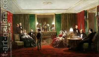 Interior of a Salon on Rue de Gramont by Charles Giraud - Reproduction Oil Painting