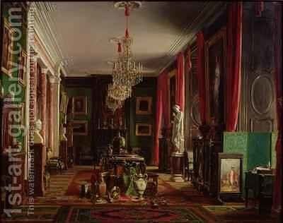 Interior of the Office of Alfred Emilien 1811-92 Count of Nieuwerkerke Director General of the Imperial Museums at the Louvre by Charles Giraud - Reproduction Oil Painting