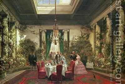 Princess Mathildes Salle a Manger rue de Courcelles Paris by Charles Giraud - Reproduction Oil Painting