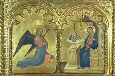 The Annunciation by Milano Giovanni da - Reproduction Oil Painting